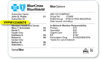 Insurance Policy Insurance Policy Number Blue Cross