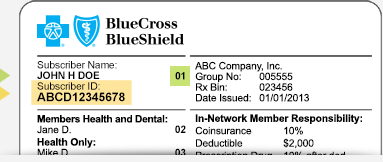 Here is what a BCBSNC member ID card looks like