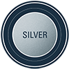metallic level silver