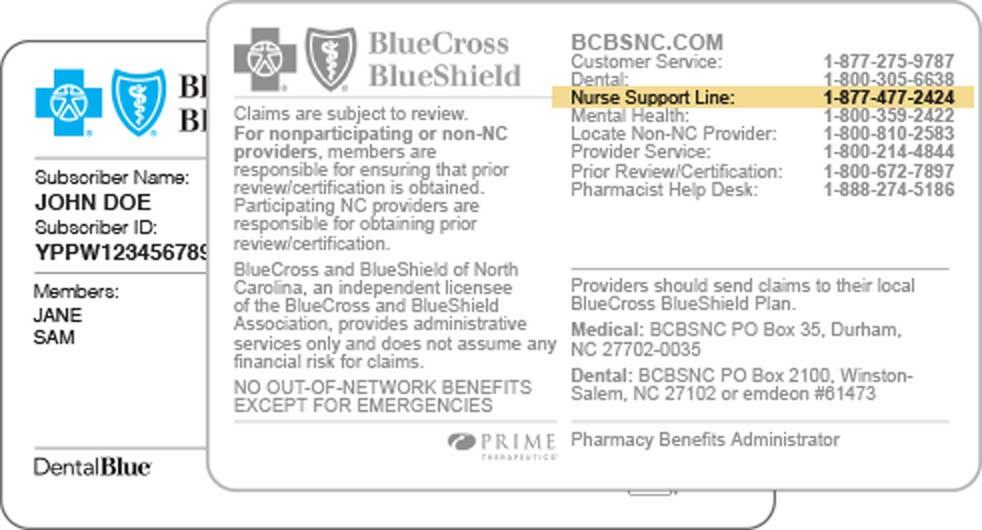 Health Line Blue   BCBSNC